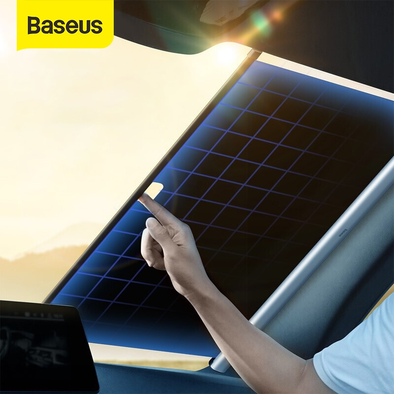 Baseus Car Windshield Sunshade Cover Automatic Retractable Sunblind Sun Protection for Car Front Window Windshield Sun Shade