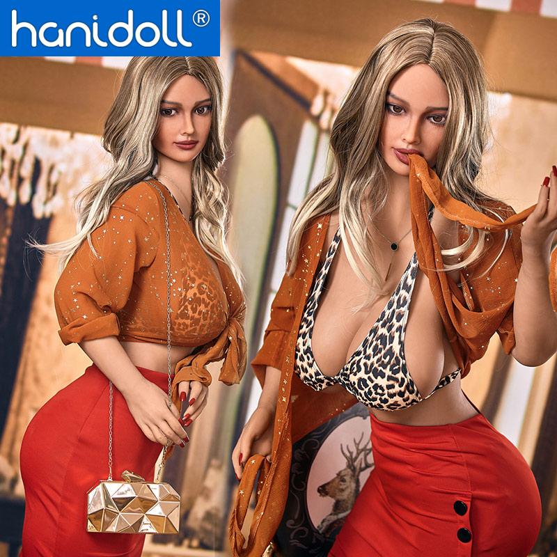 Hanidoll, muñecas sexuales de silicona de 158cm, muñeca sexual TPE de silicona realista, gran pecho, muñeca de amor realista, gran culo, muñeca sexual masculina, muñeca adulta