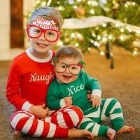9pcs snowflake santa claus elk paper glasses frame family christmas party decoration props kids adult navidad noel deco