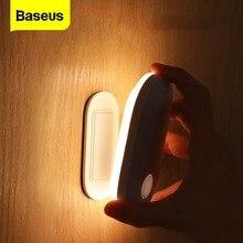 Baseus LED lumière dintérieur applique murale PIR capteur de mouvement humain Induction entrée et allée applique veilleuse pour escaliers maison chambre