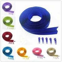 Ziper de bobina de nylon com 20 pecas  ziper de 10 metros e 25 cores  fecho automatico  ziper  suprimentos para artesanato de c