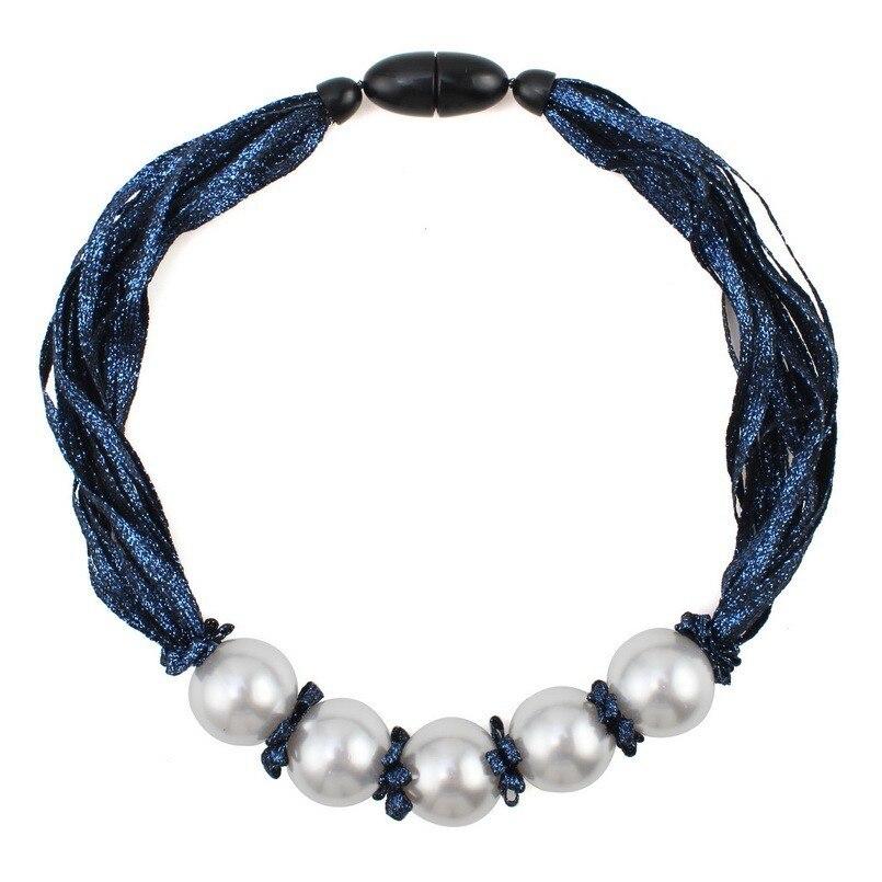 ¡Novedad de 2020! Collar de perlas simuladas con colgante de cadena de múltiples capas de cuerda para mujer