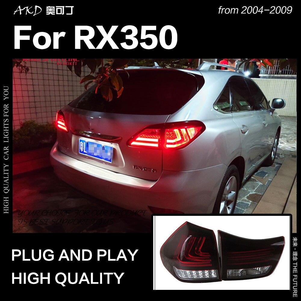 Diseño de coche AKD para la luz trasera de Lexus RX350 2010-2016 RX330 lámpara trasera LED DRL Dynamic Signal Brake Reverse auto Accessories
