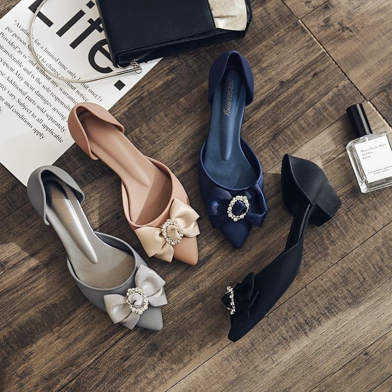 Punta tacón alto de mujer de moda Zapatos de taladro hebilla pendiente con suave Fondo flores casual Sandalias Zapatos de verano jelly