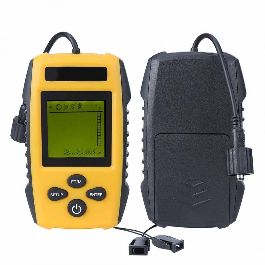 Sensor de Sonar inalámbrico buscador de peces transductor de eco Sound Detector de alarma 125kHz 90 grados 40m de profundidad accesorio de sonda pez