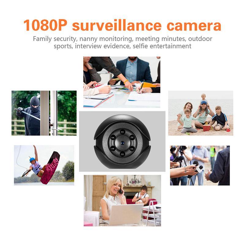 SQ6 Mini cámara de alta calidad portátil HD 1080P Cam Mini cámara de vigilancia Cámara gran angular de visión nocturna