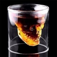 148 pieces shot glass cocktail beer skull glass whiskey skull head vodka shot glass drinking ware 2575150200ml bar tool