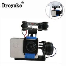 Hot High quality Black FPV 2 Axle mini Brushless Gimbal With Controller For DJI Phantom GoPro 3 4 F4