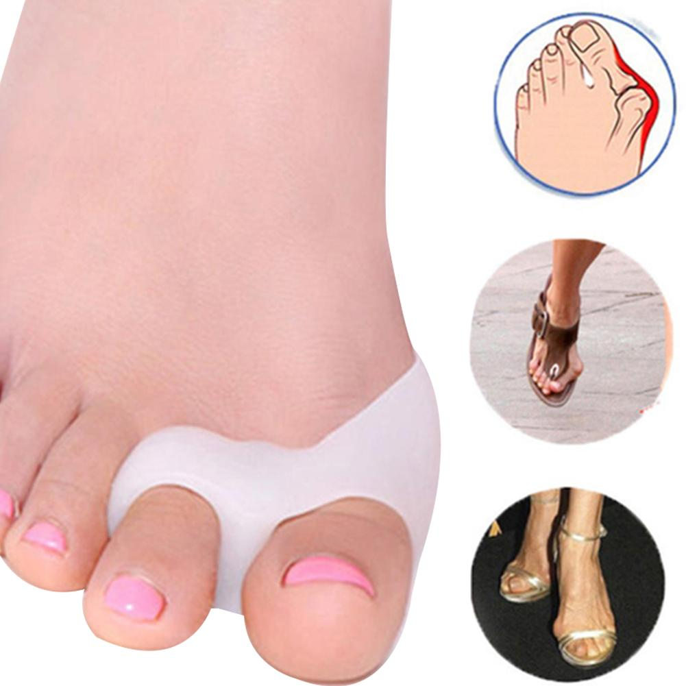 1Pair Foot Care Correctors Silicone Big Toe Hallux Valgus Separators Bunion Relief Straightener Preventing Blisters Tool Hot