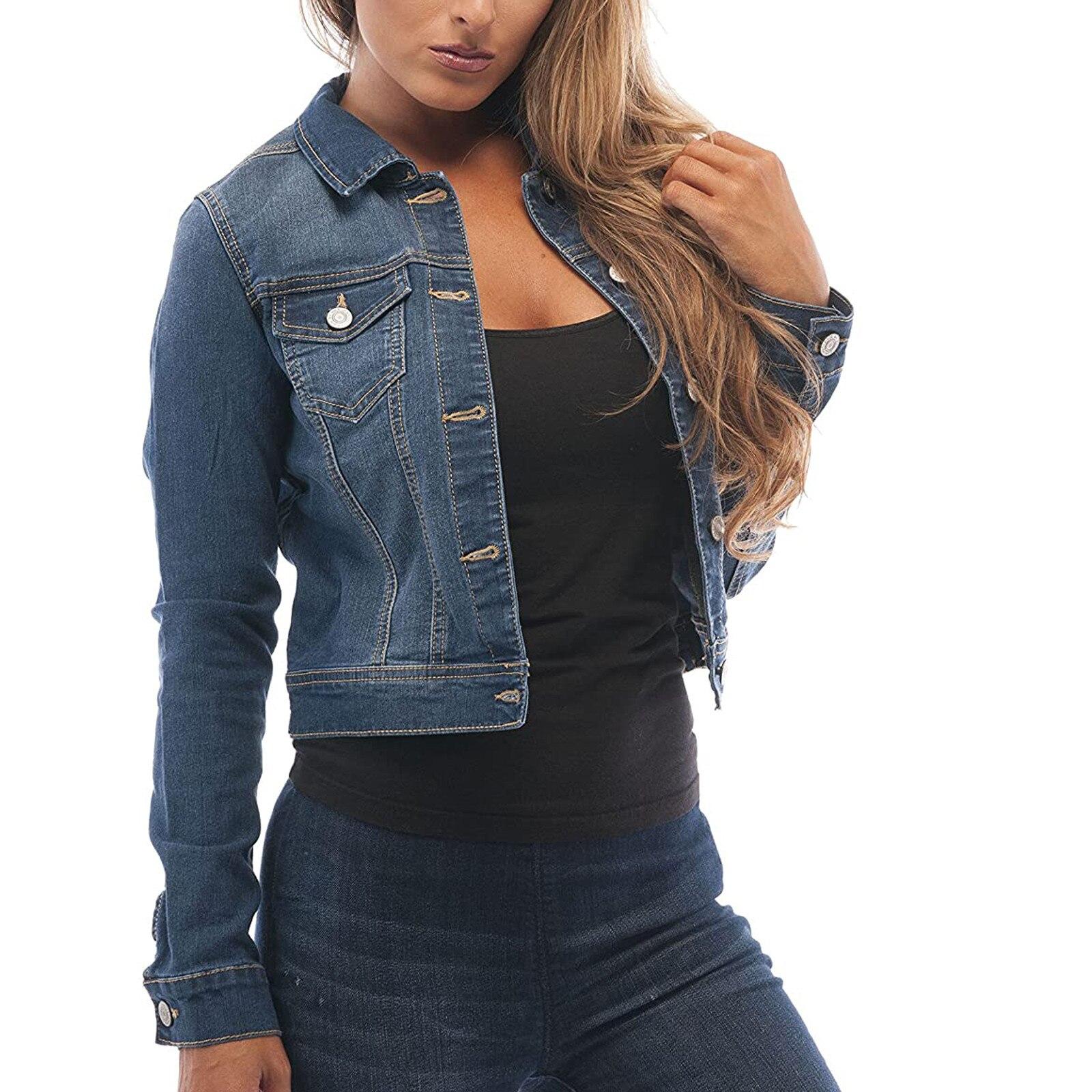 Женская джинсовая куртка, коллекция 2021 года, женская зимняя куртка, новинка, облегающее пикантное облегающее пальто стрейч, женское повседн...
