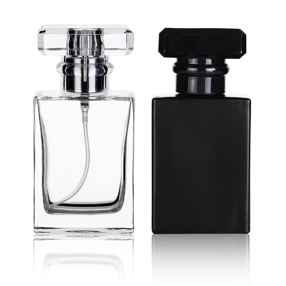 30ml Negro transparente de botellas de Perfume de viaje bolsillo botellas de vidrio para pulverizar botellas vacías botellas de botella de Spray de niebla de atomizador