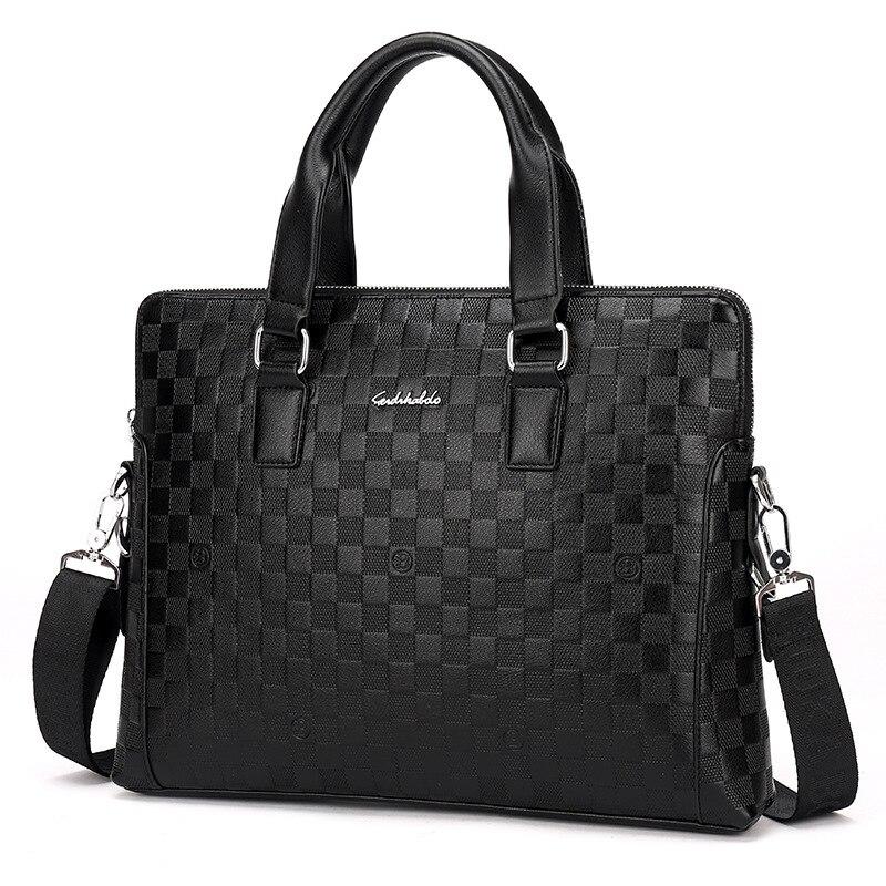 Uning agent nova bolsa masculina de negócios real-bolsa de couro masculino saco de ombro único bolsa de computador maleta