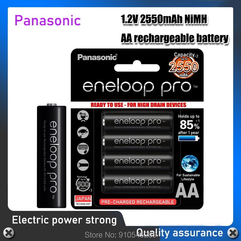 100% Panasonic Eneloop Original Batterie Pro AA 2550mAh 1,2 V NI-MH Kamera Taschenlampe Spielzeug Pre-Aufgeladenen Batterien