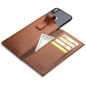 """BuzzLee Cellphone Case Bag Genuine Leather Liner Phone Bag for iPhone 5.8"""" 6.1"""" 6.5""""X Xs XR Xs Max Wallet Phone Bag"""