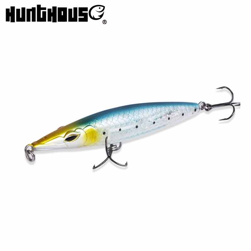 Hunthouse topwater 90 110 130 señuelo para pesca con lápiz largo fundido lápiz StickBait noeby super tiro flotante Wobblers leurre