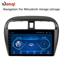 Sıcak satış 9 inç Android 8.1 araç DVD oynatıcı Gps Player için Mitsubishi mirage attrage 2012-2018 dahili radyo video navigasyon Bt Wifi
