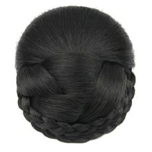Soowee 6 Farben Gestrickte Geflochtene Haar Chignon Hohe Temperatur Faser Synthetische Haar Donut Gefälschte Haar Brötchen