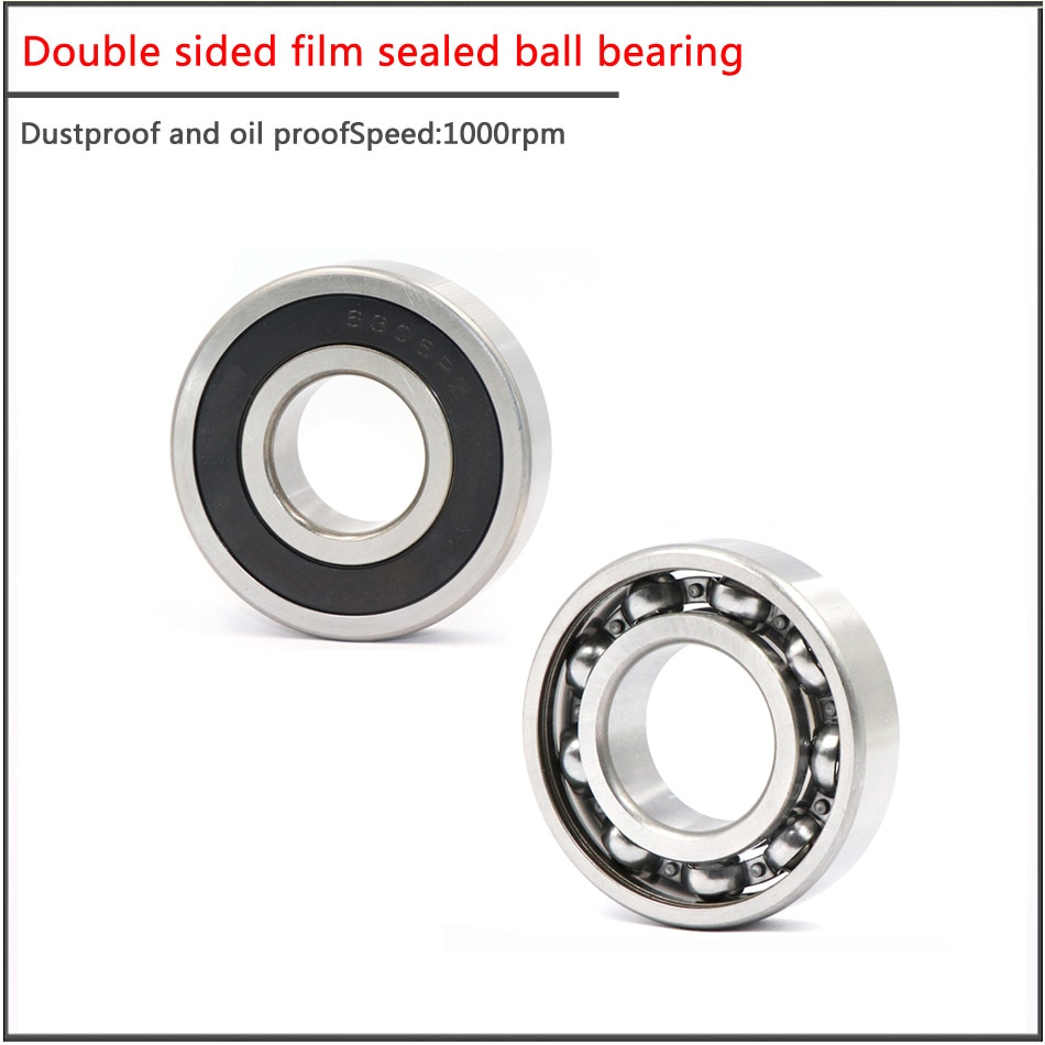 Купить с кэшбэком 10PCS/SET 606 607 608 609RS Double sided film sealed ball bearing, High Speed Micro Stainless Steel Special bearing for scooter