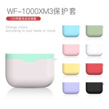 Étuis de casque de couleur de bonbon de couleur de contraste coréen pour Sony WF-1000XM3