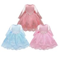 baby girls dresses children clothing ball gown bow embroidery princess dress kids birthday party costumes 1 5 years girl dress