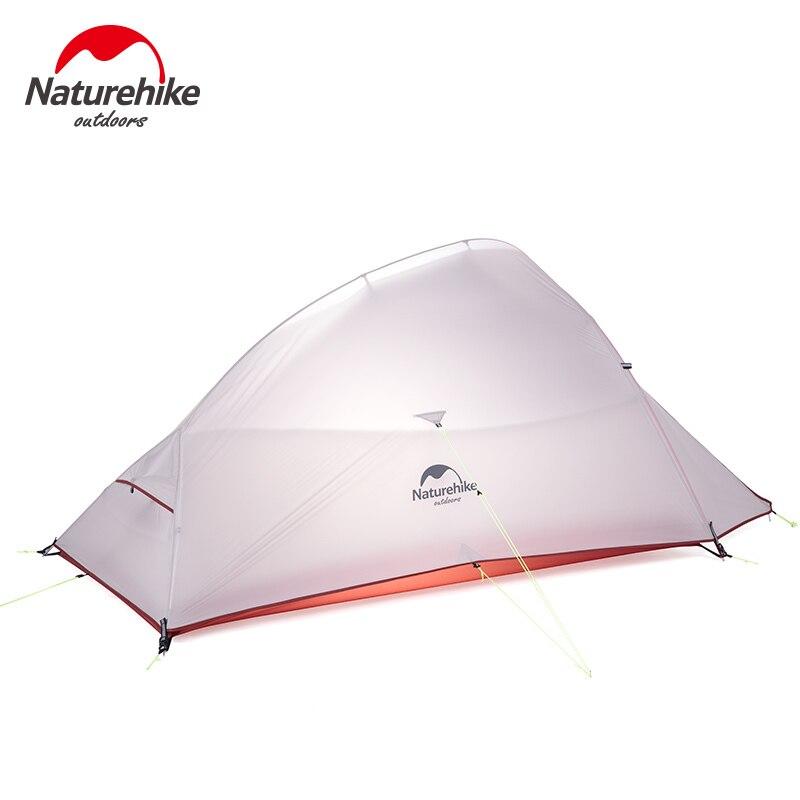 Naturehike nube tiendas al aire libre tienda de campaña ultraligero 20D gris tienda de campaña turística 2 Persona equipo de Camping