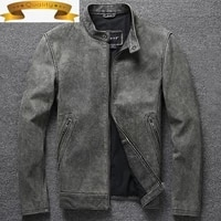 cow 2021 new genuine leather jacket men clothing real leather coat spring autumn vintage high quality motorcycle jackets man