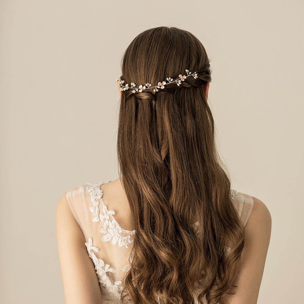 O527 Colourful real freshwater pearl bridal hairpiece chinese beaded crystal bridal headpiece for wedding party o361 ivory white beaded hairband headband beach wedding real freshwater pearl bridal hair accessories