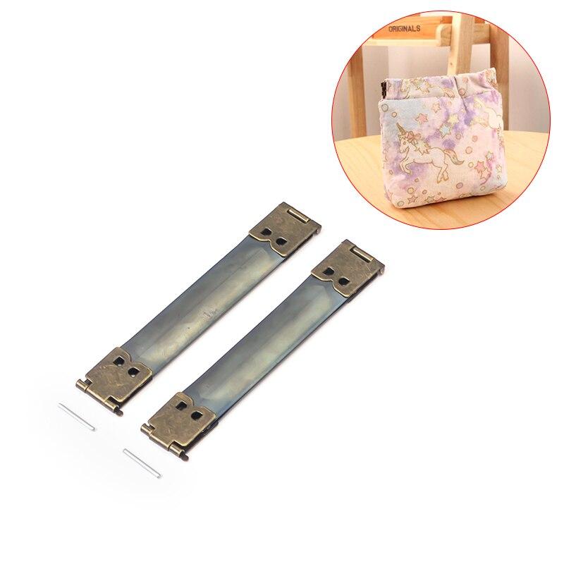 10 Uds. Marco de bolsa para monedas, marco de Metal interno flexible, marco de apriete para bolsas DIY