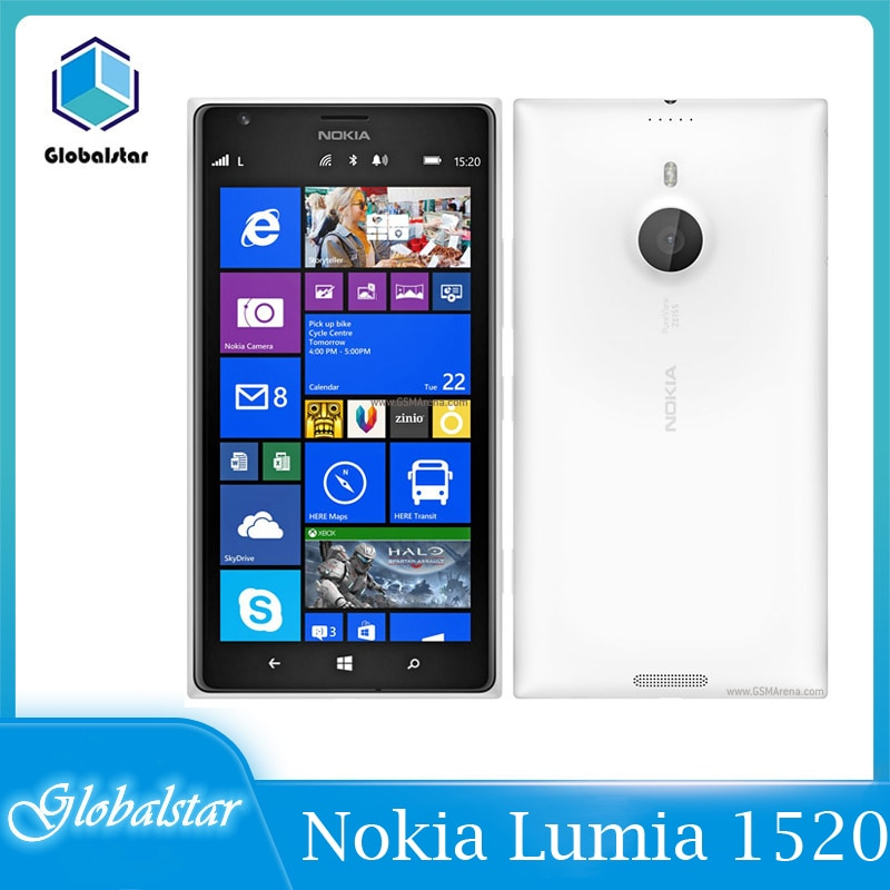 -Teléfono Nokia Lumia 1520 reacondicionado, Original, libre, 20.0MP, 6,0 pulgadas, Quad Core,...