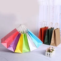 10 colors gift paper bag with handles dark color 21x15x8cm festival gift bag wedding party high quality