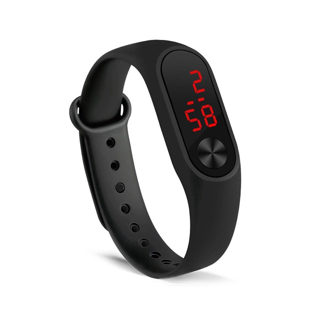 Простые женские и мужские часы модные наручные часы с ручным кольцом светодиодные спортивные электронные наручные часы Reloj deportivo para mujer дропшиппинг 1