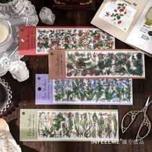 JIANWU-6 hojas de Pegatinas transparentes para mascotas, Decoración Retro creativa, diario, álbum de recortes, papelería, suministros escolares