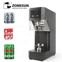 ZONESUN canettes Machine de cachetage 55mm boisson bouteille scellant café thé boîte détanchéité Machine boisson bouteille capsulage Machine 220V