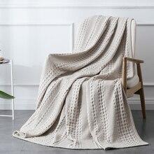 PHF-couverture tricotée en coton tissé   Textile de maison, couvre-lit de maison, couvre-lit de décor, couvre-lit pour lit dadolescent