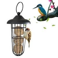 outdoor new hanging type sprayed metal windproof ball bird feeder wild bird feeder bird accessories bird feeder outdoor