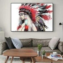 Toile de peintures indiennes pour filles   Aquarelle sur le mur avec affiches de perroquets et imprimés, tableaux muraux pour décoration de chambres denfants