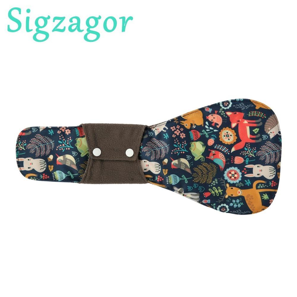 [Sigzagor] XXL тканевая менструальная прокладка санитарный бамбуковый уголь многоразовые ночные послеродовые 16in