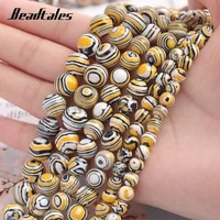 loose beads natural stone dark yellow malachite beads round for jewelry diy making bracelet accessories 6810mm beadtales