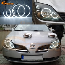 Excellent Ultra bright illumination CCFL Angel Eyes kit Halo Rings For NISSAN PRIMERA P12 2002-2008