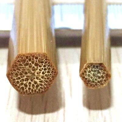 "ZHUSRODS Barra de bambú dividida tradicional en blanco 66 ""#3 + casquillos de plata de níquel"