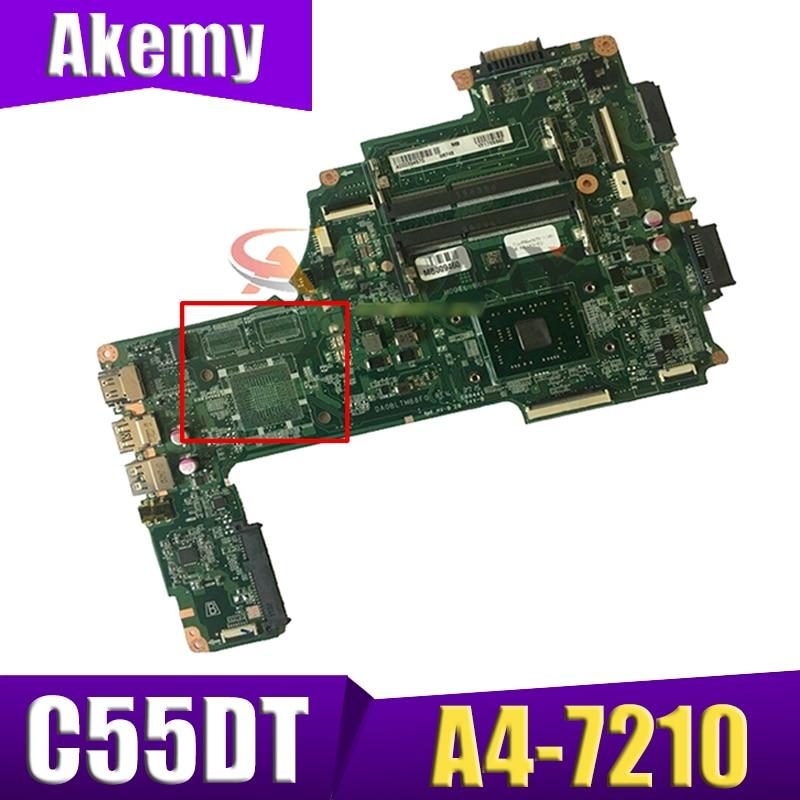 الأصلي A000390300 DA0BLTMB8F0 اللوحة الأم لأجهزة الكمبيوتر المحمول توشيبا الأقمار الصناعية C55DT C55DT-C A4-7210 1.8Ghz وحدة المعالجة المركزية اختبار كامل