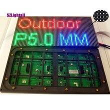 Pantalla LED matriz P5 para exteriores, 320x160mm, 64x32 píxeles, 1/8, Scan SMD2727, RGB, HUB75, a todo Color