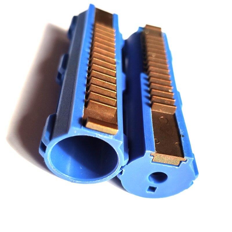 Поршень из поликарбоната Airsoft с экстремальной прочностью, 14 стальных Зубцов, твердый поршень, тяжелый, полностью усиленный синим волокном