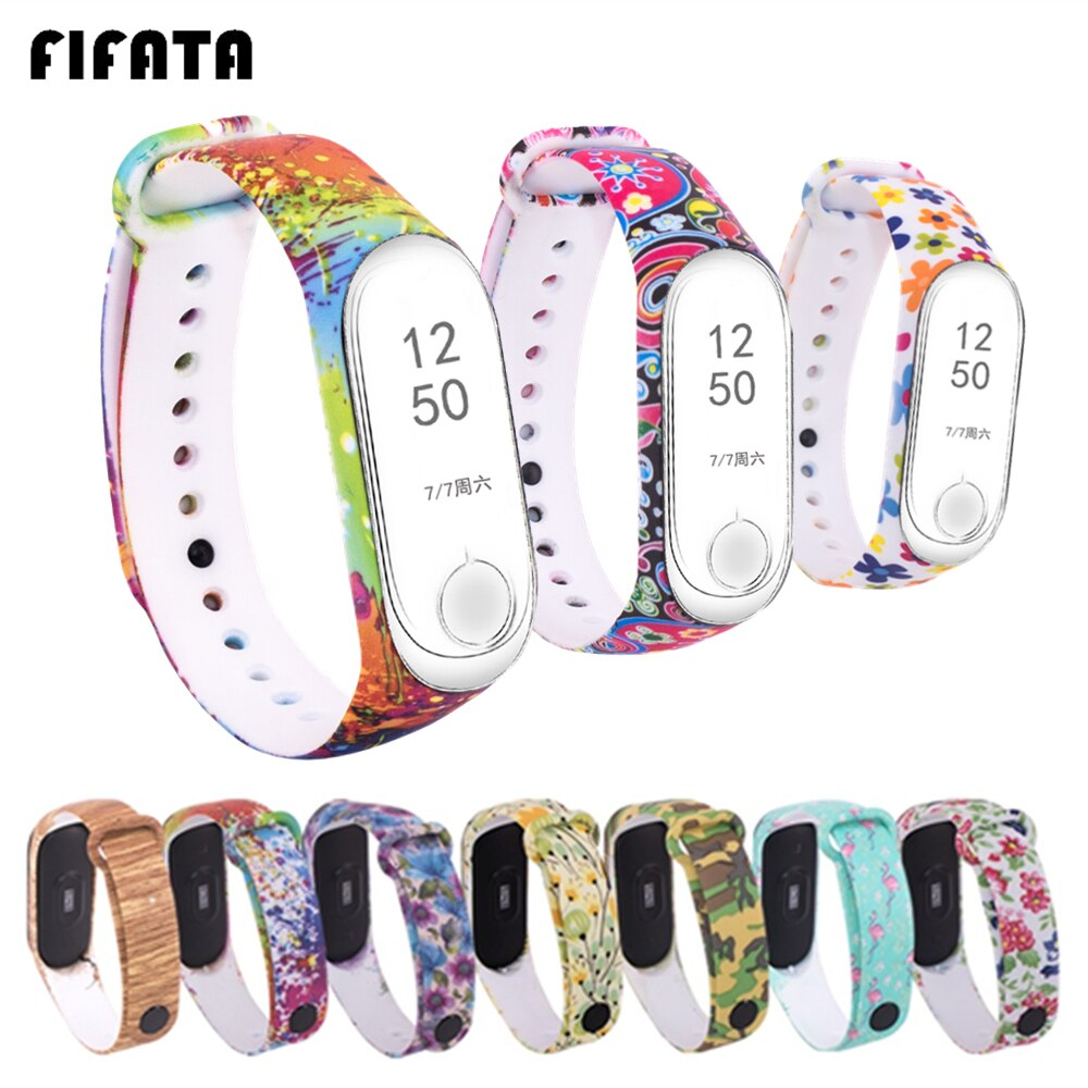 FIFATA Smart Bracelet Strap For Xiaomi Mi Band 4 Mi Band 5 Wrist Strap Sports Silicone Watchbands Fo