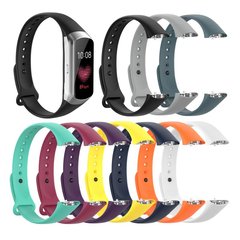 Watchband Suitable for Samsung Galaxy Fit SM-R370 Bracelet Nail Buckle Plastic Shrapnel Silicone Strap Smart Accessories