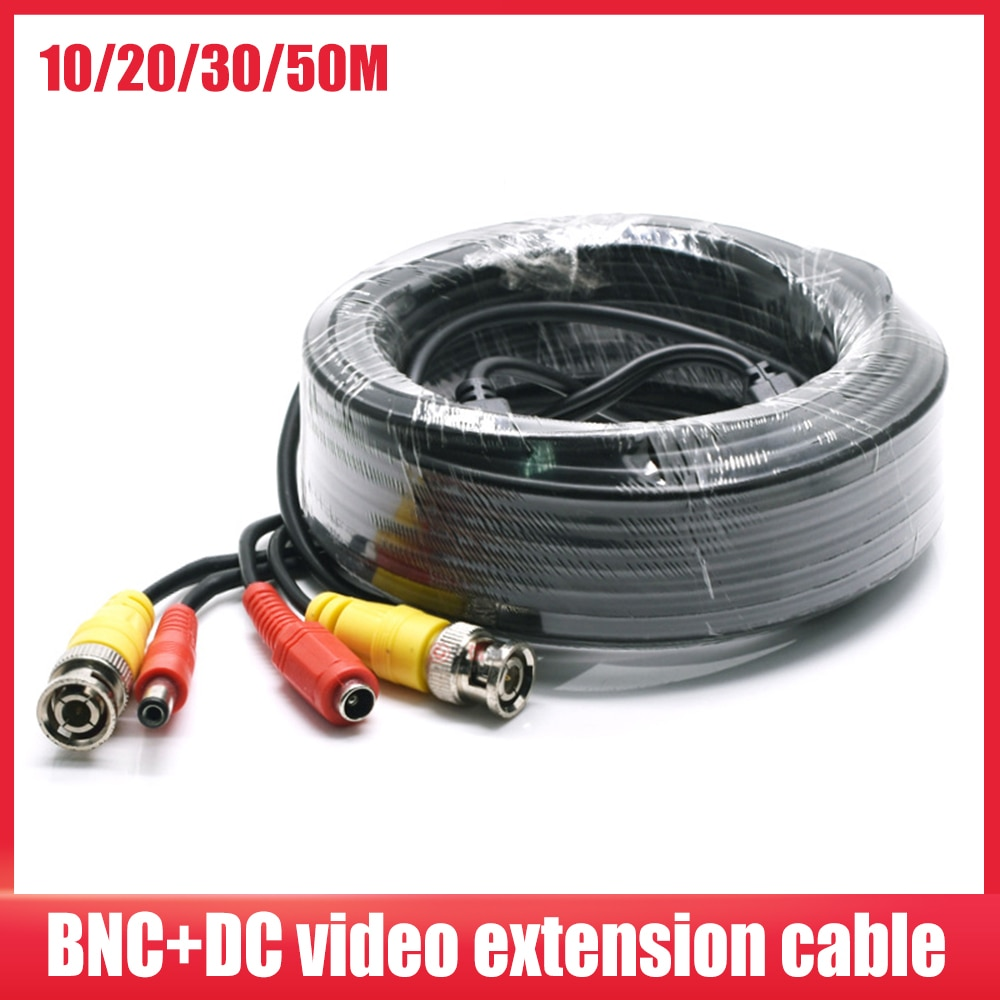Кабель BNC для системы видеонаблюдения, удлинитель для передачи данных и записи цифровых видеорегистраторов, питание постоянным током, 10 м/20 ...