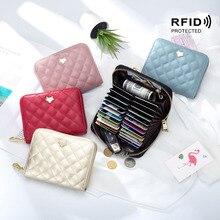 2020 nouvelle carte de mode RFID portefeuille multifonctionnel en cuir souple exquis haut de gamme en cuir femmes rfid portefeuille passeport étui