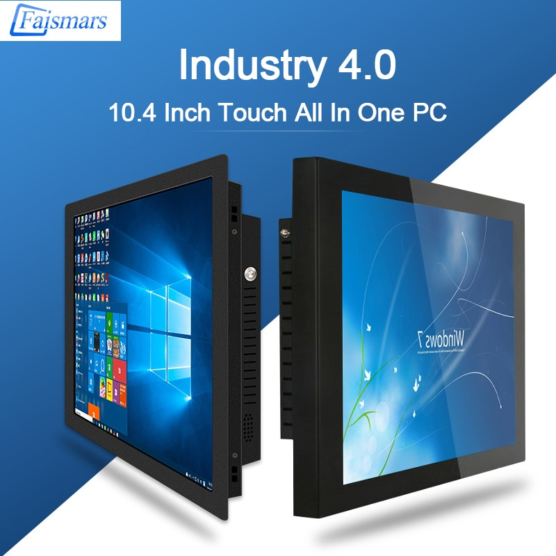 Desktop All In One PC With 10.4 Inch TFT Panel Intel Core I5 8265U Touchscreen Industrial Gaming Computer Win10 Pro OS enlarge