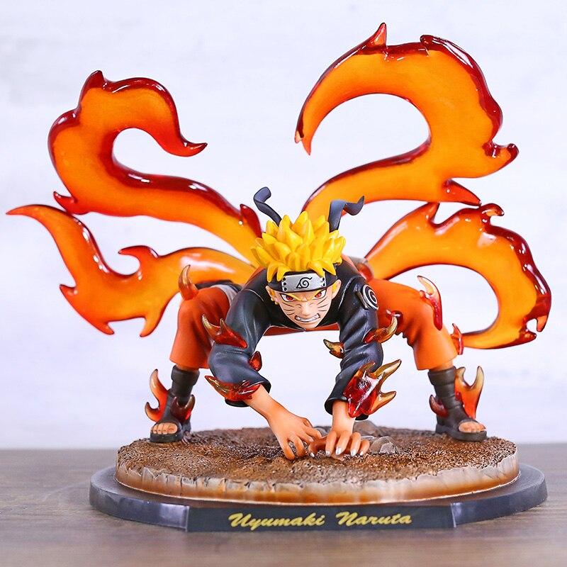 Naruto Shippuden de cuatro colas Uzumaki Naruto primera forma de PVC figura estatua coleccionable modelo de juguete