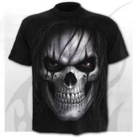 2021 mens summer fashion casual trendy t shirt 3d printing skull head capless round neck short sleeved t shirt